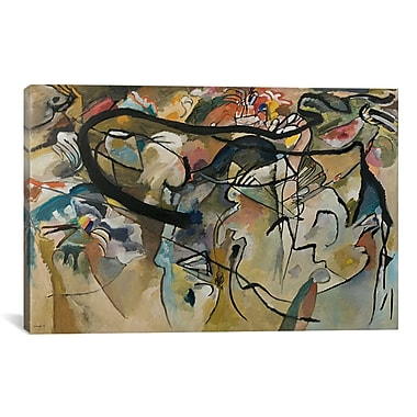 iCanvas Composition V by Wassily Kandinsky Painting Print on Canvas; 40'' H x 60'' W x 1.5'' D