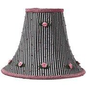 Jubilee Collection 10.25'' Silk Bell Lamp Shade; Black