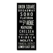 Uptown Artworks Union Square Textual Art Giclee Printed on Canvas; 20X50