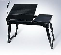 Deluxe Comfort Laptop Table Stand; Black
