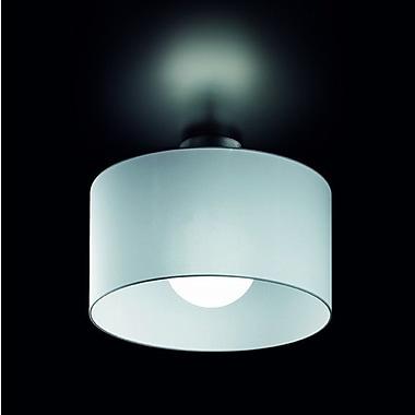 Morosini Fog 1 Light Semi-Flush Mount; Black