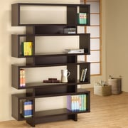 Wildon Home   72.75'' Bookcase; Cappuccino