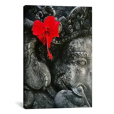 iCanvas Ganesh Holy Hindu God Statue Photographic Print on Canvas; 26'' H x 18'' W x 1.5'' D