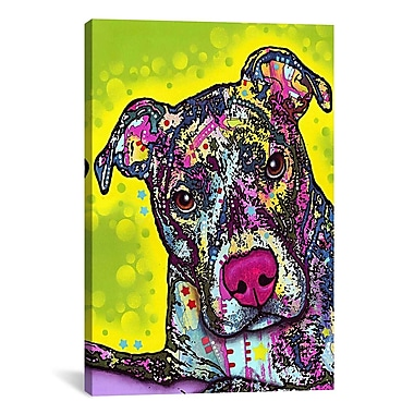 iCanvas 'Brindle' by Dean Russo Graphic Art on Canvas; 18'' H x 12'' W x 1.5'' D