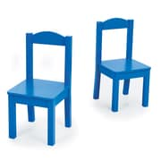 Tot Tutors Mix-n-Match Kids Chair (Set of 2); Blue