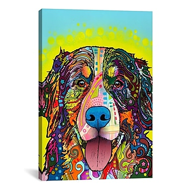 iCanvas 'Burnese Mountain Dog' by Dean Russo Graphic Art on Canvas; 40'' H x 26'' W x 1.5'' D