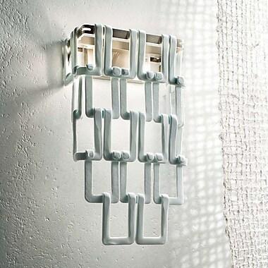 Evi Style Tessuti Maxi 2 Light Wall Light; Amber