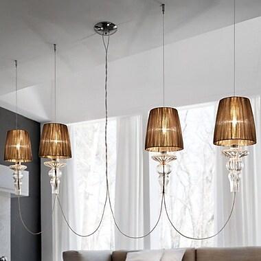 Evi Style Gadora 4 Light Kitchen Island Pendant; Golden Teak