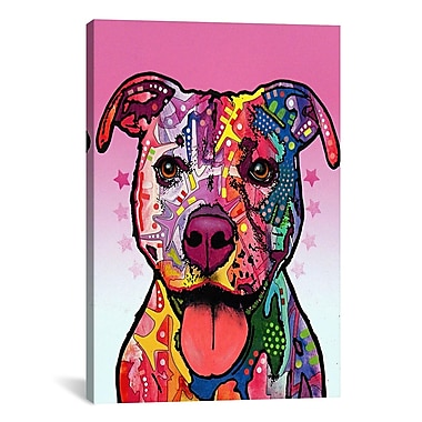 iCanvas 'Cherish The Pit Bull' by Dean Russo Graphic Art on Canvas; 60'' H x 40'' W x 1.5'' D