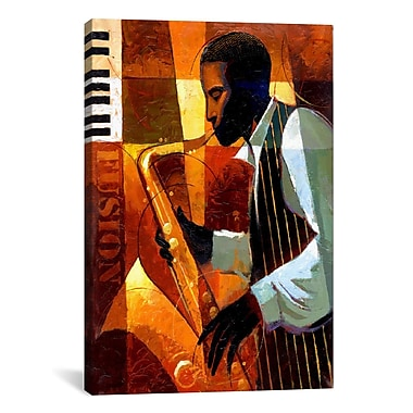 iCanvas Fusion by Keith Mallett Painting Print on Canvas; 18'' H x 12'' W x 0.75'' D
