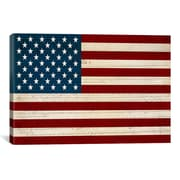 iCanvas U.S. Constitution American Flag Graphic Art on Canvas; 12'' H x 18'' W x 1.5'' D