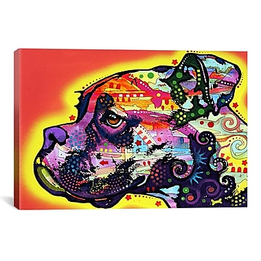 iCanvas 'Profile Boxer' by Dean Russo Graphic Art on Canvas; 26'' H x 40'' W x 1.5'' D