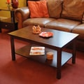 Wildon Home   Bay Shore Coffee Table with Shelf; Espresso