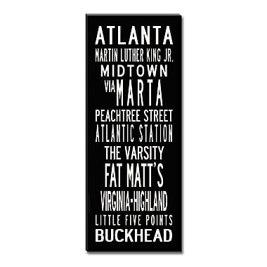Uptown Artworks Atlanta by Uptown Artworks Framed Textual Art on Wrapped Canvas; 24x60