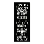 Uptown Artworks Boston Textual Art Giclee Printed on Canvas; 20x50