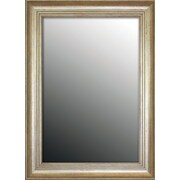 Second Look Mirrors Louis XIV French Silver Wall Mirror; 47'' H x 37'' W