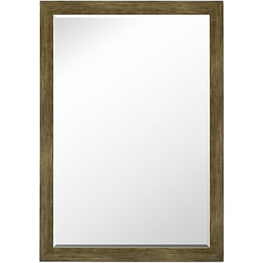 Second Look Mirrors Weathered Sand Barnwood Petite Wall Mirror; 34'' H x 16'' W