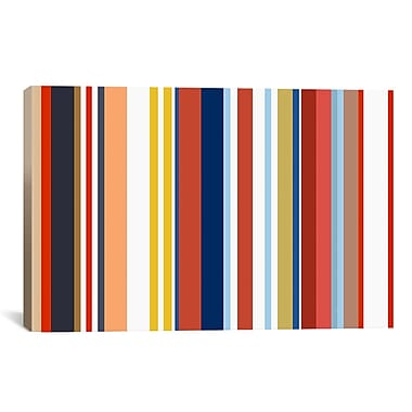iCanvas Retro Hemptons Striped Graphic Art on Canvas; 8'' H x 12'' W x 0.75'' D