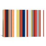 iCanvas Retro Hemptons Striped Graphic Art on Canvas; 26'' H x 40'' W x 0.75'' D