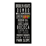 Uptown Artworks Brooklyn Neighbordhoods Textual Art Giclee Printed on Canvas; 24x60