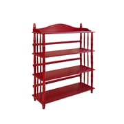 Altra 4-Shelf Spindle Leg 46.22'' Etagere; Red