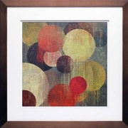 North American Art 'Magenta Bubbles I' by Tom Reeves Framed Painting Print