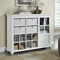 Altra Reese Park Storage Cabinet with 4 Fabric Bins Glass Door
