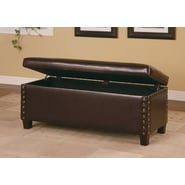 Wildon Home   Broadbent Leather Storage Bench
