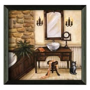 Timeless Frames Fireplace Escape I Framed Painting Print