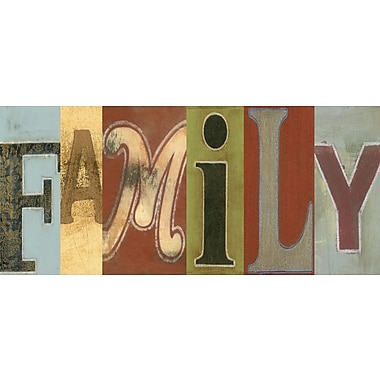 Art Effects Family Panel by Vision Studio Textual Art on Wrapped Canvas