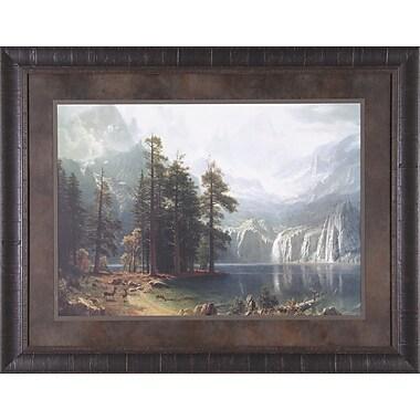 Art Effects Sierra Nevada by Albert Bierstadt Framed Painting Print