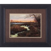 Art Effects Elk and Creek by Chris Vest Framed Painting Print