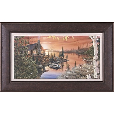 Art Effects Autumn Evening by Mark Daehlin Framed Painting Print
