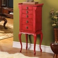 Wildon Home   Nang Jewelry Armoire with Mirror; Red