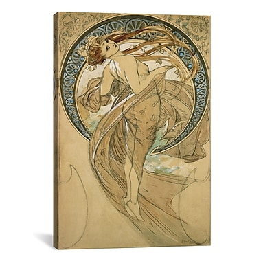 iCanvas 'Dance' by Alphonse Mucha Painting Print on Canvas; 12'' H x 8'' W x 0.75'' D
