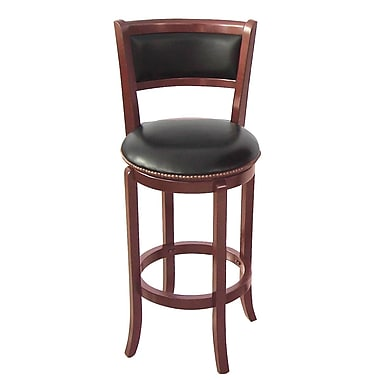 Wildon Home   Vinyl 30'' Swivel Bar Stool ; Cherry