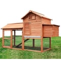 Aosom Large Pawhut Chicken Coop with Hinged Roof and Nesting Box