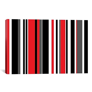 iCanvas Retro Striped Graphic Art on Canvas; 12'' H x 18'' W x 1.5'' D