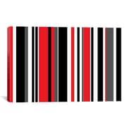 iCanvas Retro Striped Graphic Art on Canvas; 12'' H x 18'' W x 0.75'' D