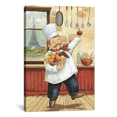 iCanvas Happy Chef I by Daphne Brissonnet Painting Print on Canvas; 18'' H x 12'' W x 1.5'' D