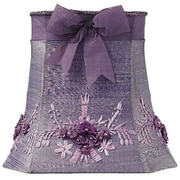 Jubilee Collection 11.25'' Floral Bouquet Dupioni Silk Square Lamp Shade; Lavender