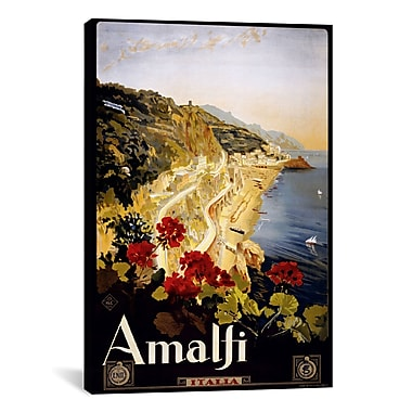 iCanvas Amalfi Italia Vintage Advertisement on Canvas; 40'' H x 26'' W x 0.75'' D