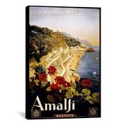 iCanvas Amalfi Italia Vintage Advertisement on Canvas; 40'' H x 26'' W x 1.5'' D