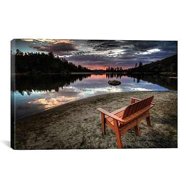 iCanvas 'A Bench w/ a View' by Bob Larson Photographic Print on Canvas; 12'' H x 18'' W x 0.75'' D