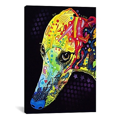 iCanvas 'Greyhound' by Dean Russo Graphic Art on Canvas; 26'' H x 18'' W x 1.5'' D