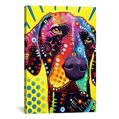 iCanvas German Short Hair Pointer by Dean Russo Graphic Art on Canvas; 18'' H x 12'' W x 1.5'' D