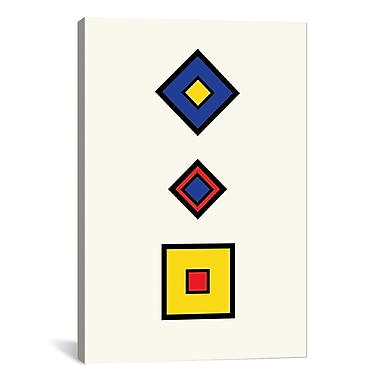 iCanvas Modern Square Composition Graphic Art on Canvas; 60'' H x 40'' W x 1.5'' D
