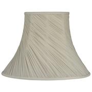 Laura Ashley Home 7.5'' Classic Silk Empire Lamp Shade; Cream