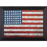 Art Effects Flag,1954-55 by Jasper Johns Framed Graphic Art