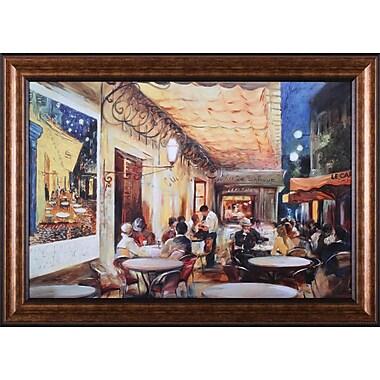 Art Effects Caf Van Gogh by Maria Zielinska Framed Painting Print